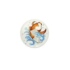 Patterned Koi Mini Button