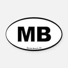 Myrtle Beach South Carolina EURO O Oval Car Magnet