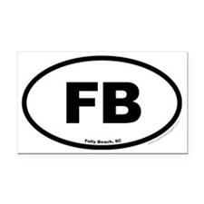 Folly Beach South Carolina EU Rectangle Car Magnet