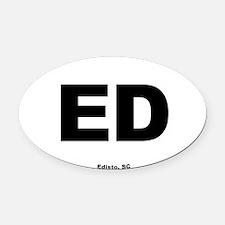 Edisto South Carolina EURO Oval Oval Car Magnet