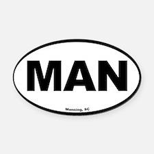 Manning South Carolina EURO Oval M Oval Car Magnet