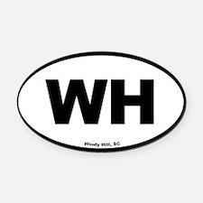 Windy Hill South Carolina EURO Ova Oval Car Magnet