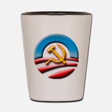 O Logo with Hammer and Sickle Shot Glass