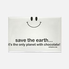 Save Chocolate Rectangle Magnet