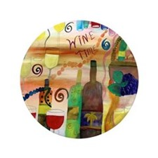 "Wine Time 3.5"" Button"
