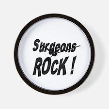 Surgeons Rock ! Wall Clock