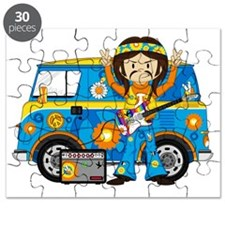 Hippie Boy and Camper Van Puzzle