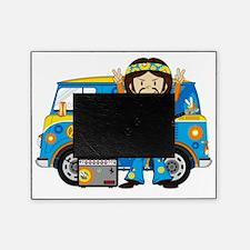 Hippie Boy and Camper Van Picture Frame