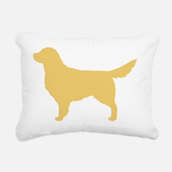 goldenretriever Rectangular Canvas Pillow