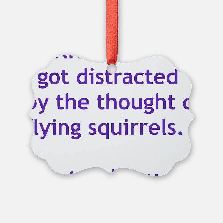 Purple Squirrels Ornament