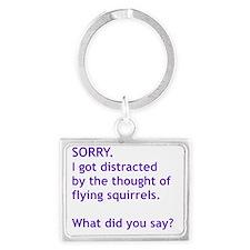 Purple Squirrels Landscape Keychain