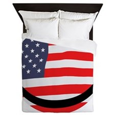 Old glory smiley face Queen Duvet