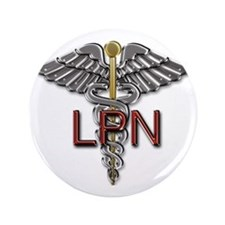 "LPN Medical Symbol 3.5"" Button"