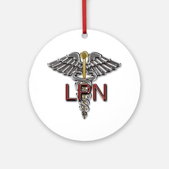 LPN Medical Symbol Round Ornament