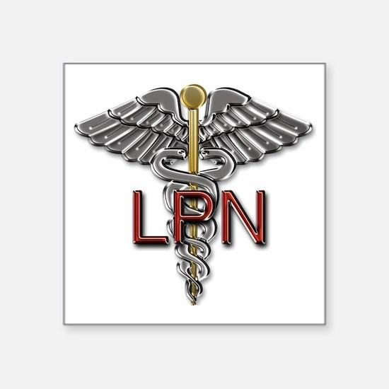 "LPN Medical Symbol Square Sticker 3"" x 3"""