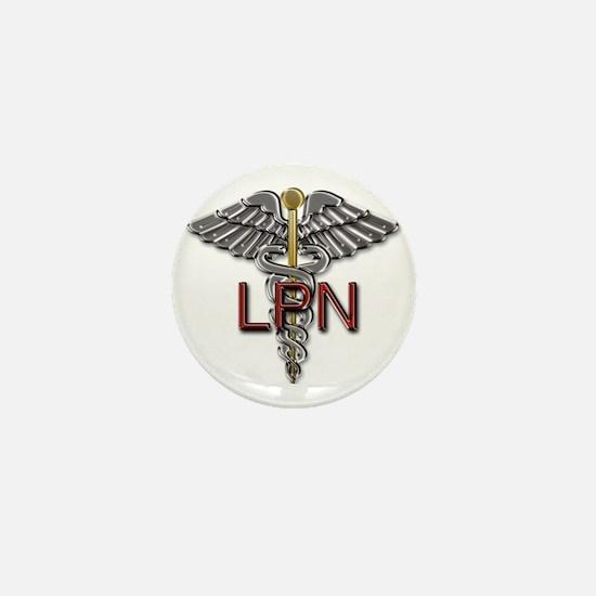 LPN Medical Symbol Mini Button