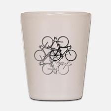 Bicycle circle Shot Glass