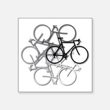 "Bicycle circle Square Sticker 3"" x 3"""