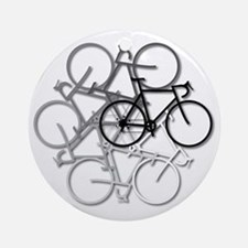 Bicycle circle Round Ornament