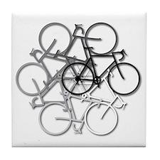 Bicycle circle Tile Coaster