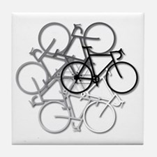 Bicycle circle Tile Coaster