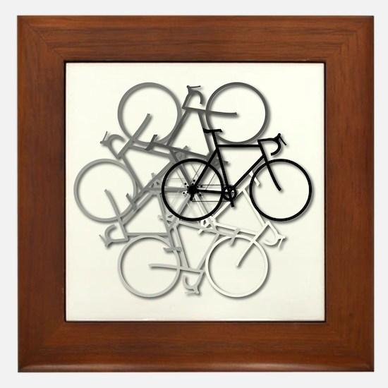 Bicycle circle Framed Tile