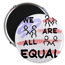 We Are All Equal American Flag Magnet
