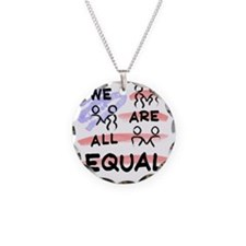 We Are All Equal American Fl Necklace Circle Charm