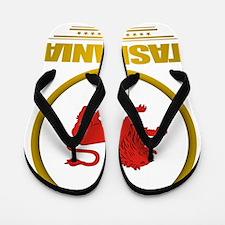 Tasmania Emblem Flip Flops