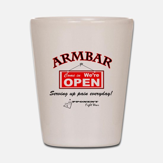 Armbar - we are open Shot Glass