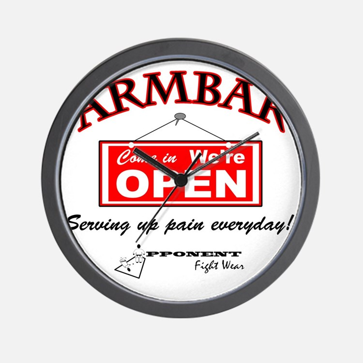 Armbar - we are open Wall Clock