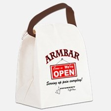 Armbar - we are open Canvas Lunch Bag