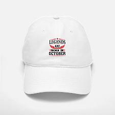 Legends Are Born In October Baseball Baseball Baseball Cap