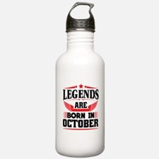 Legends Are Born In October Water Bottle