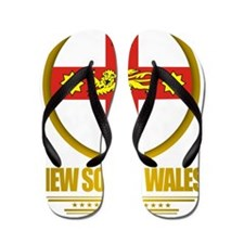 New South Wales Emblem Flip Flops
