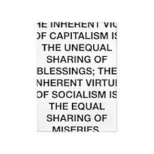 vice of capitolism winston churchil 5'x7'Area Rug
