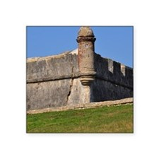 "Castillo de San Marcos Square Sticker 3"" x 3"""