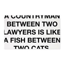 between two lawyers benjamin frankl 3'x5' Area Rug