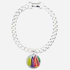 Colorful Sails Charm Bracelet, One Charm