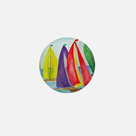 Colorful Sails Mini Button