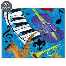 Jazz on Blue Puzzle