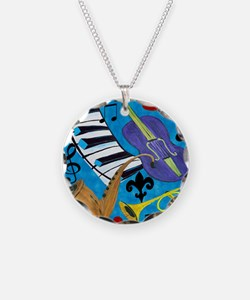 Jazz on Blue Necklace