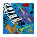 Jazz Tile Coasters