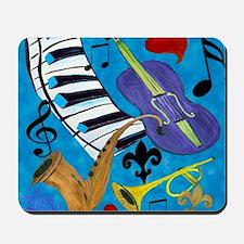 Jazz on Blue Mousepad