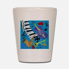 Jazz on Blue Shot Glass