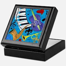 Jazz on Blue Keepsake Box