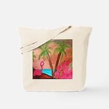 Flamingo in Paradise Tote Bag