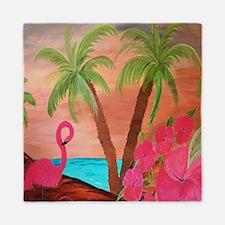 Flamingo in Paradise Queen Duvet