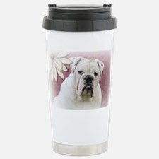 bulldog with pink background Stainless Steel Trave