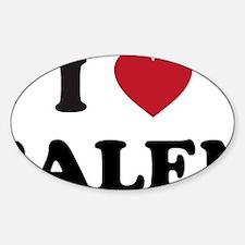 I Love Salem Oregon Sticker (Oval)